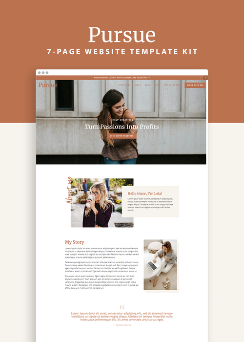 Pursue Squarespace 7.0 Template Kit — Productive And Free In in Best Service Dog Certificate Template Free 7 Designs
