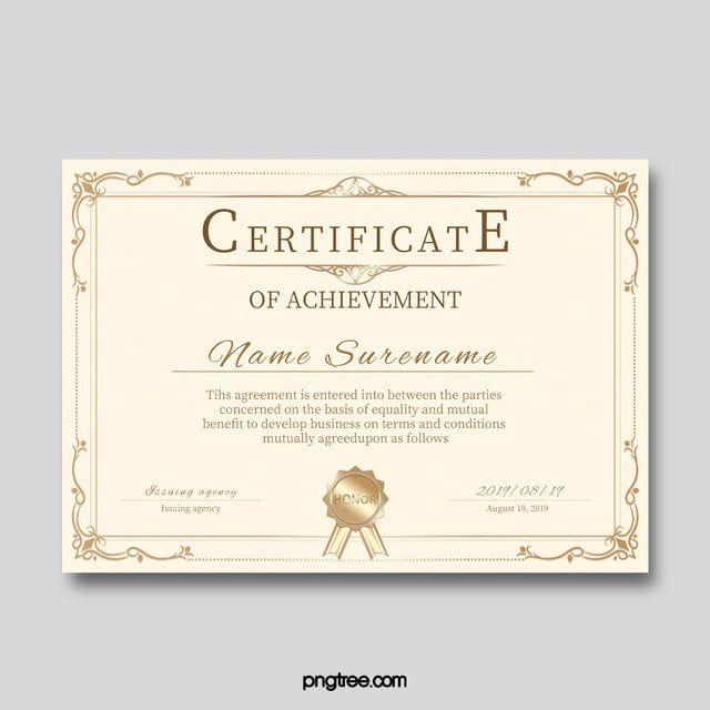 Qualification Certificate Template | Certificate Templates for Qualification Certificate Template