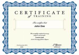 Qualification Certificate Template   Certificate Templates with Best Qualification Certificate Template