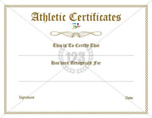 Rare Athletic Certificate Template Free – 123Certificate with Athletic Award Certificate Template