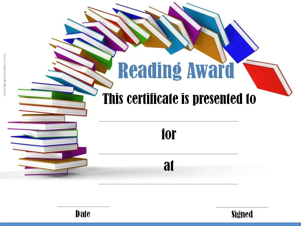 Reading Awards | Reading Certificates, Reading Awards For Best Star Reader Certificate Templates