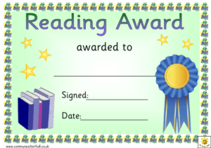 Reading Certificate Templates Pdf. Download Fill And Print within Reading Certificate Template Free
