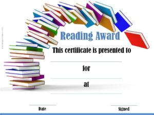 Reading Certificate Templates | Reading Certificates within Summer Reading Certificate Printable