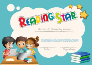 Reading Star Award Template With Children Background pertaining to Star Reader Certificate Template