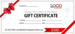Ready-Made Gift Certificate And Voucher Templates For Ms inside Present Certificate Templates