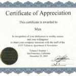 Recognition Of Service Certificate Template (6) – Templates Inside Years Of Service Certificate Template Free 11 Ideas