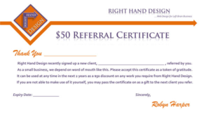 Referral Certificate Template (2) – Templates Example inside Unique Referral Certificate Template