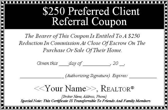 Referral Certificate Template (5) - Templates Example intended for Unique Referral Certificate Template
