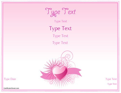 Relationships Certificate - Romance Love Certificate regarding New Love Certificate Templates