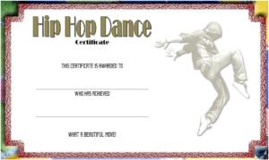 Remarkable Hip Hop Dance Certificate Template Free intended for Hip Hop Certificate Templates