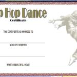 Remarkable Hip Hop Dance Certificate Template Free intended for Hip Hop Dance Certificate Templates