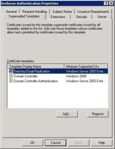 Replacing Legacy Domain Controller Certificates – Cloud Azzurri In Domain Controller Certificate Template