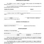 Republic Of The Philippines Department Of Education Region I Regarding Certificate Of Acceptance Template