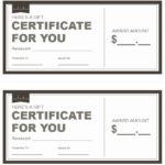 Restaurant Gift Certificate Template 3 – Printable Samples Within Unique Restaurant Gift Certificates Printable