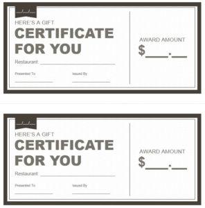 Restaurant-Gift-Certificate-Template 3 – Printable Samples within Unique Restaurant Gift Certificates Printable