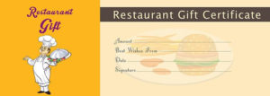 Restaurant Gift Certificate Template – Free Gift Certificate inside Restaurant Gift Certificate Template