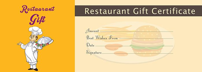 Restaurant Gift Certificate Template - Free Gift Certificate within Restaurant Gift Certificates Printable