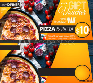 Restaurant Gift Voucher Flyer Template With Delicious Taste throughout Best Pizza Gift Certificate Template