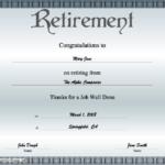 Retirement Certificate Printable Certificate With Free Retirement Certificate Templates For Word