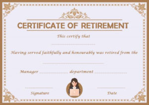 Retirement Certificate Template Archives – Page 2 Of 3 within New Retirement Certificate Template
