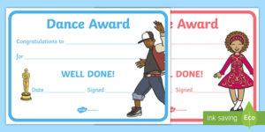 Reward Certificates Dance Award Certificate (Teacher Made) pertaining to Quality Dance Award Certificate Template