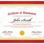 Ribbon Design Template Certificate Red Landscape In Pertaining To Unique Landscape Certificate Templates