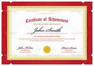 Ribbon-Design-Template-Certificate-Red-Landscape In pertaining to Unique Landscape Certificate Templates