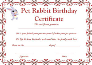 Right Place To Find Free Samples And Templates For Rabbit Throughout Fresh Rabbit Adoption Certificate Template 6 Ideas Free