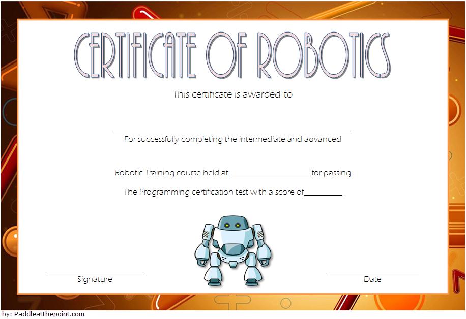 Robotics Technician Certificate Template 1 Free with Robotics Certificate Template