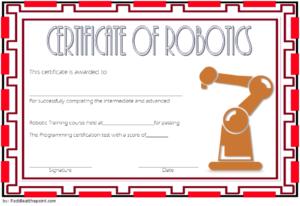 Robotics Technician Certificate Template 2 Free with Unique Robotics Certificate Template Free