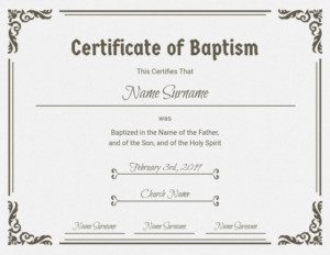 Roman Catholic Baptism Certificate Template (1) – Templates inside New Roman Catholic Baptism Certificate Template