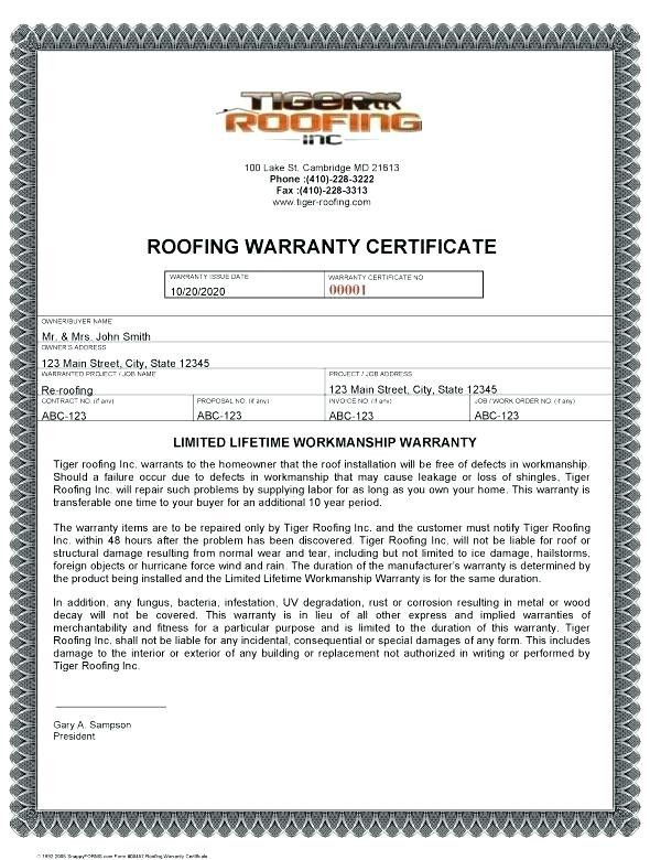 Roof Certification Form Prettier Of Roofing Workmanship in Unique Roof Certification Template