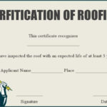 Roof Certification Letter Template | Certificate Templates Intended For Unique Roof Certification Template