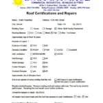 Roof Certification Template (1) – Templates Example With Regard To Unique Roof Certification Template