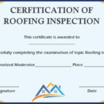 Roof Inspection Certification Template | Certificate Inside Unique Roof Certification Template
