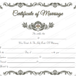 Royal Marriage Certificate Template – For Word With Regard To Unique Marriage Certificate Editable Templates