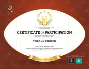 Rugby Certificate Stock Illustrations – 94 Rugby Certificate pertaining to Rugby Certificate Template