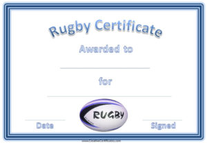 Rugby League Certificate Templates – Mutil throughout Rugby League Certificate Templates