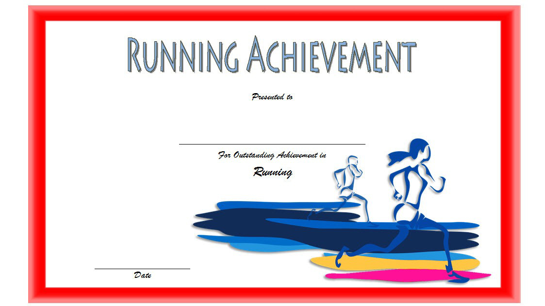 Running Achievement Certificate Template Free 1 within Finisher Certificate Template 7 Completion Ideas