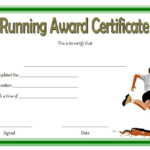 Running Achievement Certificate Template Free 4 Intended For Fresh Editable Running Certificate