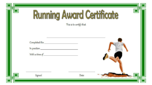 Running Achievement Certificate Template Free 4 intended for Running Certificate Templates 10 Fun Sports Designs