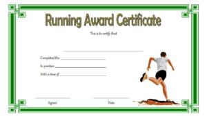 Running Achievement Certificate Template Free 4 intended for Running Certificate Templates