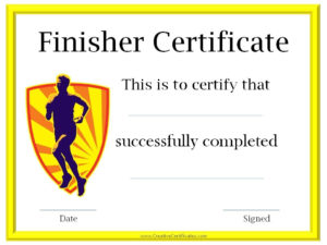 Running Awards | Certificate Templates, Online Education regarding Running Certificate Templates