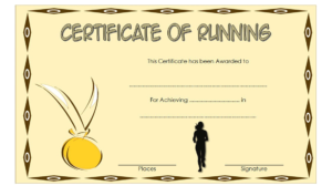 Running Certificate Free Printable 1 | Certificate Templates with regard to Unique Finisher Certificate Template 7 Completion Ideas