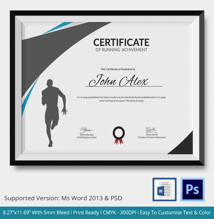 Running Certificate Template - Carlynstudio with regard to Running Certificate Templates 10 Fun Sports Designs