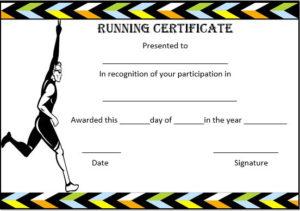 Running Certificate Templates : 20+ Free Editable Word intended for Editable Running Certificate