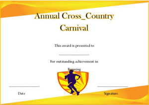 Running Certificate Templates : 20+ Free Editable Word regarding Running Certificate Templates 10 Fun Sports Designs