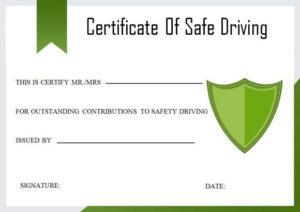 Safe Driving Certificate   Certificate Templates, Drive Safe intended for Safe Driving Certificate Template