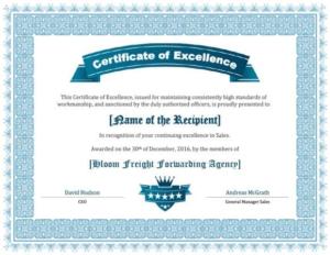 Sales Certificate Template (3)   Professional Templates within Best Sales Certificate Template