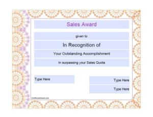 Sales Certificate Template (6)   Professional Templates with Best Sales Certificate Template